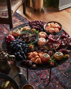 تزئین سینی میوه برای شب یلدا