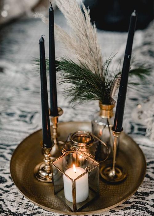 دکوراسیون مینیمال با شمع - ردپنل