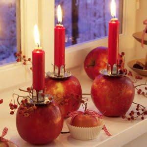 شمع یلدایی قرمز