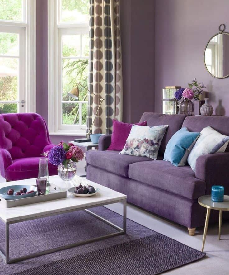 lilac color for parlor design