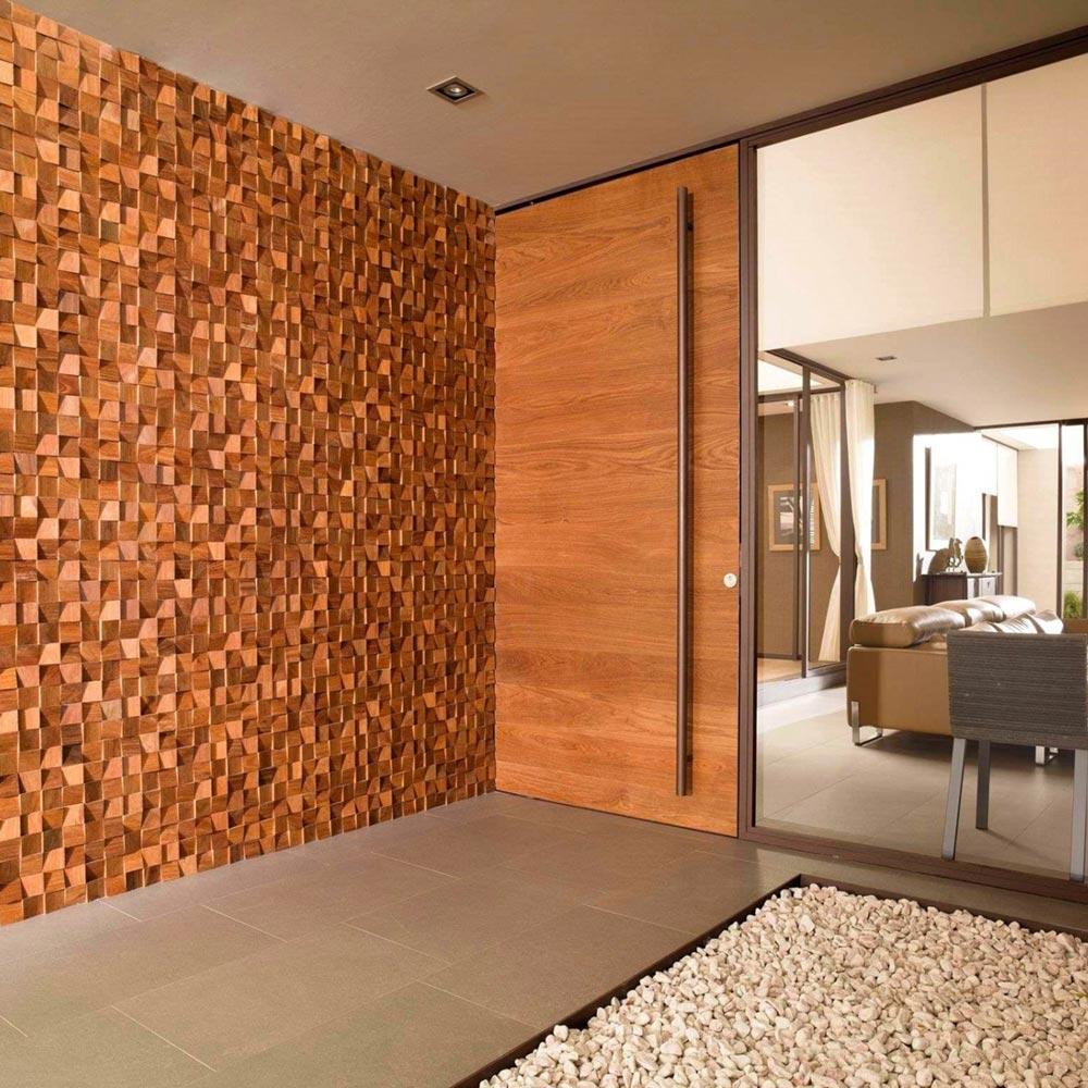 دیوارپوش چوبی طرح برجسته