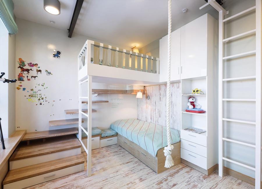 دکوراسیون اتاق خواب با تخت دوطبقه
