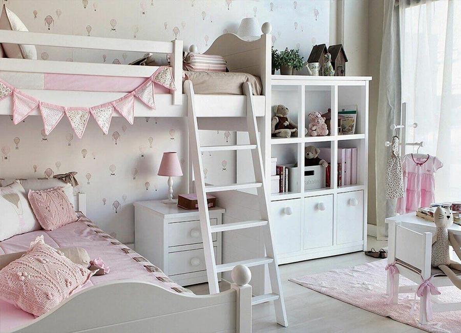 تخت صورتی دوطبقه