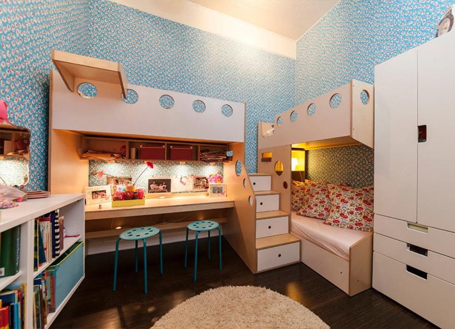 طراحی متفاوت برای تخت دو طبقه