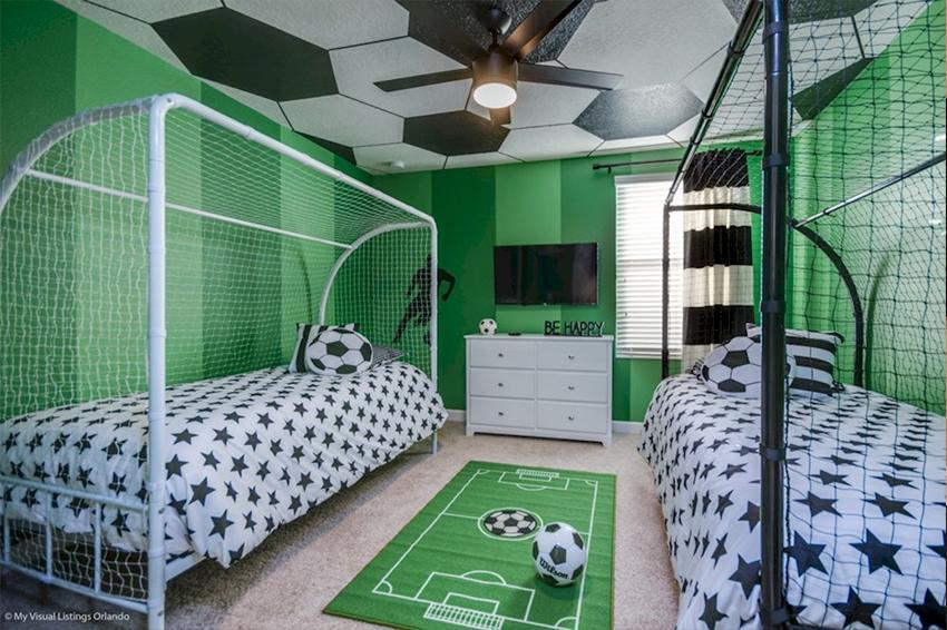 دیزاین اتاق فوتبالی