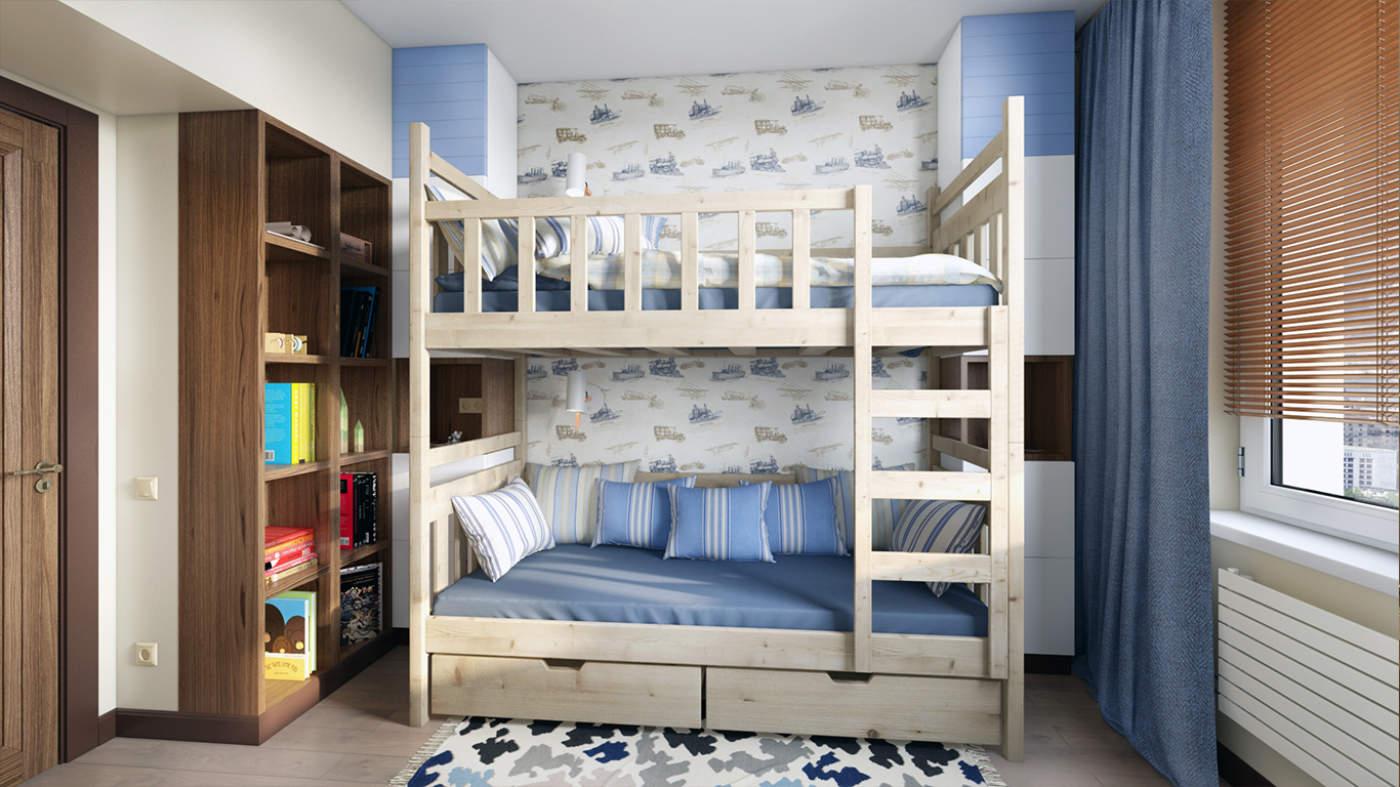 طراحی دکوراسیون اتاق خواب با تخت دو طبقه چگونه است؟