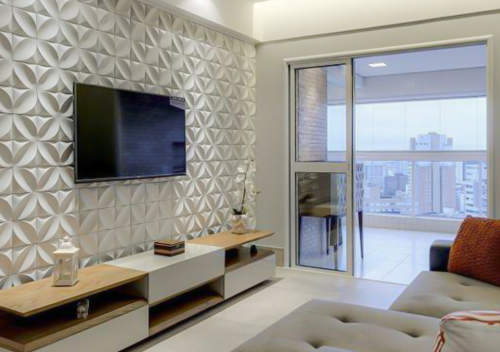 دیوارپوش سه بعدی سنگی و پلیمری