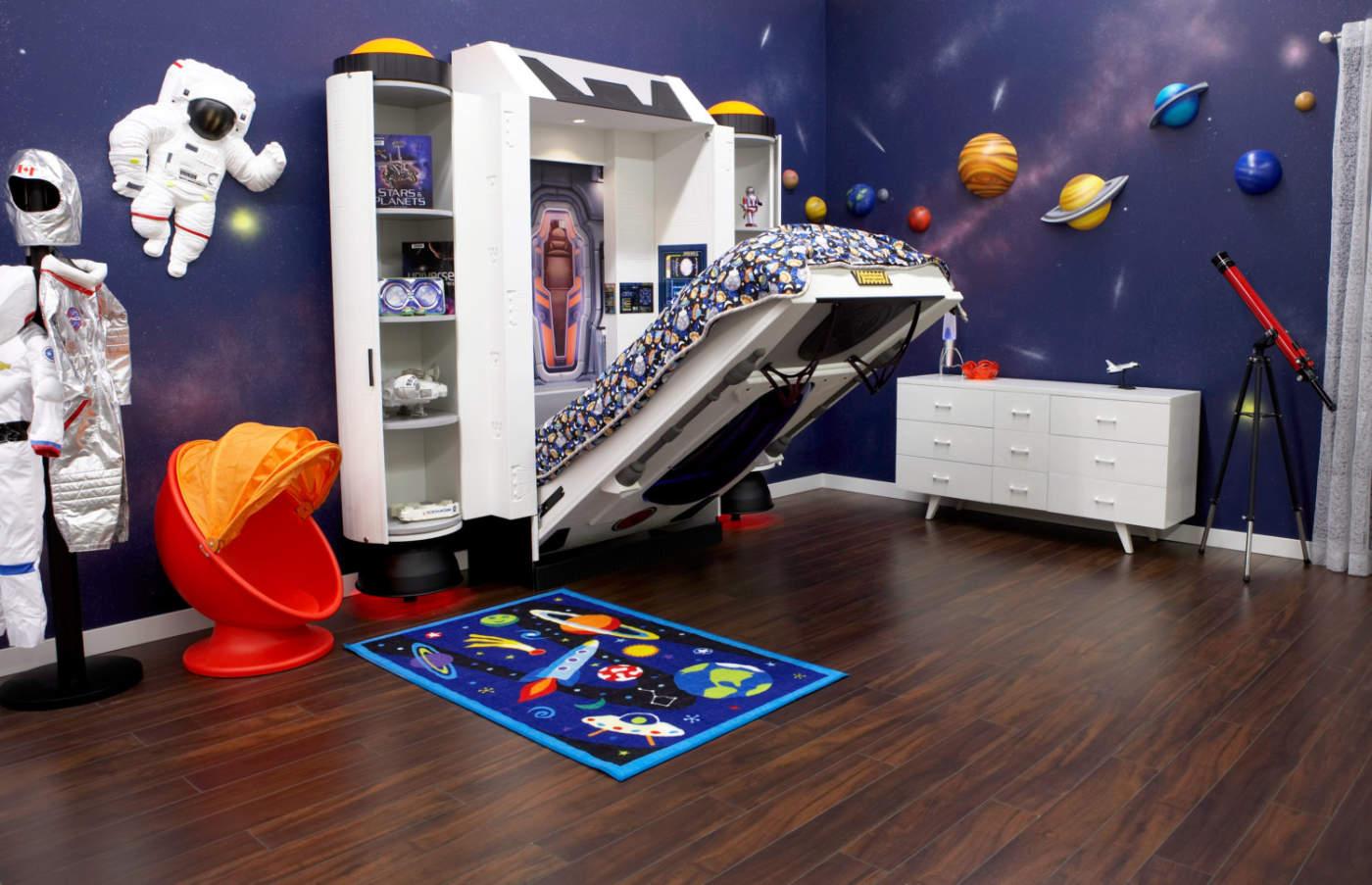 طراحی دکوراسیون اتاق خواب فضایی به چه صورت قابل انجام است؟