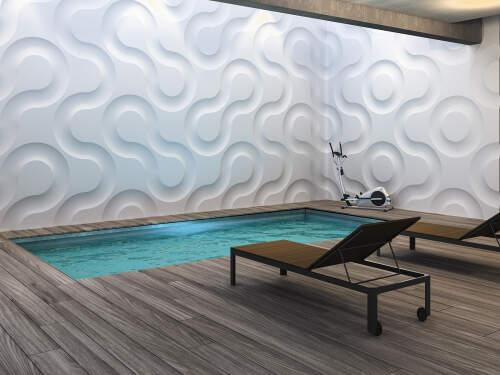 پنل دیوار پوش سه بعدی گچی