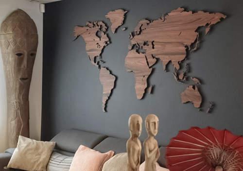 نقشه جهان دکوراتیو